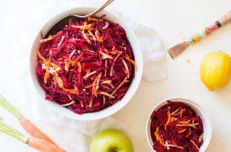 Салат из свеклы и яблок